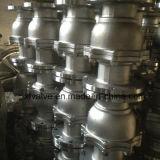 鋳造物の炭素鋼のWcbの浮遊タイプフランジの端の球弁