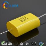 Achsengeleiteter Typ metallisierter Ployester Film-Kondensator (CBB20 106/250)