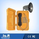 防水騒々しい電話、家の電話、壁に取り付けられた電話