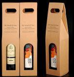 Die-Cut 손잡이를 가진 물결 모양 포도주 상자 또는 수송용 포장 상자 또는 포장 상자