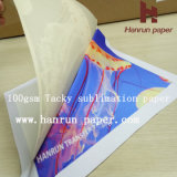 100GSM Heavy Sticky 반대로 Ghosting Tacky 또는 Sticky Sublimation Transfer Paper