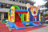 Hands up Clown Inflatable Bouncer com Slide Combo (chb445)