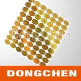 Gebildet China-bester Hersteller-im kundenspezifischen Goldfolien-wasserdichten Sicherheits-Hologramm-Aufkleber