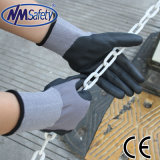 Nmsafety 15g Nylon e Spandex Nitrile Foam Coated Work Glove