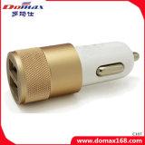 이동 전화 부속품 APP 알루미늄 합금을%s 가진 두 배 USB 차 충전기