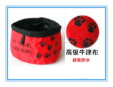600d Polyester Pet Portable Traveling Bowl Foldable Feeder Dog Water Bowl