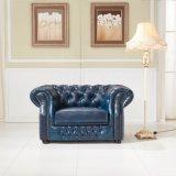 Sofá de couro de Chesterfield do estilo europeu