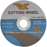 インドの熱い販売ステンレス鋼のためのディスクを切る5インチのユリの品質の研摩の金属の試供品