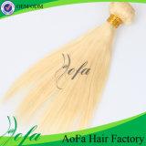 7A等級のインドのバージンのブロンドの二重引出された人間の毛髪のよこ糸