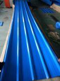 Colorer la tôle d'acier de PPGI/a ridé la tuile de toit galvanisée en métal