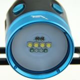 Электрофонарь света Max4000lm Watrproof 100-200m СИД фотоего подныривания переключателя цвета Hoozhu Hv33 4 светлый двойной для подныривания
