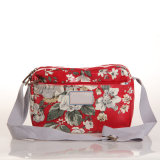 (99032-6) Sacs à main floraux de sacs d'épaule de Chinses de toile imperméable à l'eau de type
