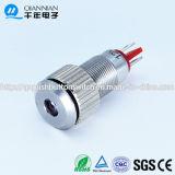 8mm LED-Qn8 con indicador luminoso de la lámpara de cabeza plana Borne de contacto del metal interruptor de botón