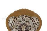 의자를 식사하는 도매에 의하여 덮개를 씌우는 Sytle 프랑스 루이 목제 보기 알루미늄 직물