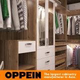 Конструкция шкафа шкафа спальни самомоднейшего роскошного деревянного зерна Walk-in (YG16-M08)