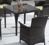 Mobilia esterna del giardino del Pe-Rattan poco costoso dell'insieme che pranza insieme con la presidenza & la Tabella (YTA026&YTD446-4)