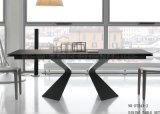 Tableau dinant à haute brillance noir moderne avec les pattes anormales (NK-DT254-1)