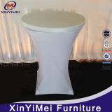 White all'ingrosso Spandex High Bar Cocktail Table Cloth per Wedding