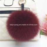 Grande pendente della sfera della pelliccia della peluche di caduta dei sacchetti degli accessori della pelliccia di Fox