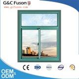 La finestra di scivolamento orizzontale di alluminio può con lo schermo della mosca