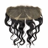 Capelli umani di Remy del merletto del corpo del Virgin frontale brasiliano dell'onda