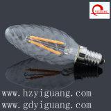 こはく色の炎によって曲げられる先端LEDの電球C35