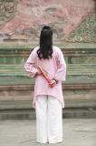 Le ressort des femmes de Chi de Tai et le lin textile d'été montrant l'uniforme de mode