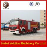 Camion de pompiers du lecteur LHD/Rhd 10m3/10cbm/10000liters de HOWO 6X4