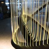 Hotel-Vorhalle-dekorative hängende Faser-große runde hängende Lampe