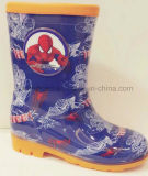 PVC Rain Shoes di Cartoon della stampa per Boys