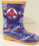 Zapatos de la lluvia del PVC de la historieta de la impresión para los muchachos