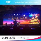 Écran visuel de mur de l'Afficheur LED P4.81 de location commercial avec le degré de H 140/V cornière de vue de 140 degrés