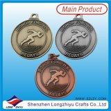 Médailles Suppiler en métal de sport de médailles de bronze d'argent d'or d'Anitque