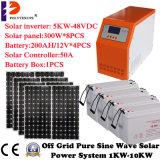 Солнечная батарея панели солнечных батарей с сети электропередач для пользы дома