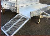 remorque plongée chaude de cadre de 8X5 Galavnized avec le transporteur de faucheuse