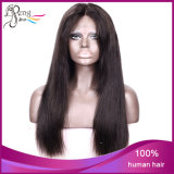 브라질 Virgin 처리되지 않은 사람의 모발 브라운 레이스 정면 가발
