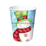 新しいデザイン高品質のクリスマスのペーパーコーヒーカップのカスタム印刷された単一の壁によって絶縁される使い捨て可能な紙コップ