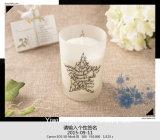 Vela Scented romântica do presente da soja em uns frascos de vidro
