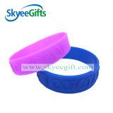 Braccialetti del silicone impressi colore puro