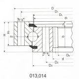 Anel Ex120-3 do pântano da máquina escavadora, rolamento do giro