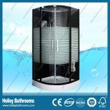 Ausgezeichneter Multifunktionsdampf-Dusche-Raum mit gestreifter lichtdurchlässiger Glastür (SR117B)