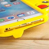 Caso lindo de la contraportada del silicón de la historieta 3D Pikachu del Anime para el más 6s del SE 4s 5 5s del iPhone 7 6 para S4 S5 S6 S7 S7edge Note3/4/5/J5/A7 (XSDW-077)