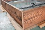 Guichet en aluminium de tissu pour rideaux de profil d'interruption thermique de qualité avec le bâti multi Kz269 de blocage et en bois