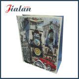Luxure vende al por mayor el bolso ULTRAVIOLETA del papel de imprenta de la insignia de encargo barata colorida