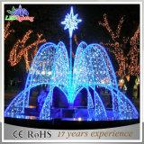 Luz azul da fonte do jardim do Natal grande