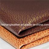 Cuoio d'ottone antico del PVC della superficie di stile per il coperchio della mobilia del sofà