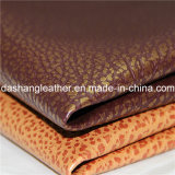 Подгоняйте кожу PVC зерна для крышки мебели софы