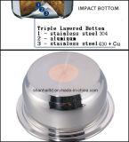 bas réglé de choc de batterie de cuisine sans eau exempte de graisse de l'acier inoxydable 17PCS