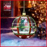 Светильник рождества Santa Claus рождественской елки идя снег вися