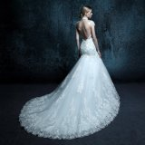 Real Photo Backless Mermaid Wedding Dress (ZXB-24)
